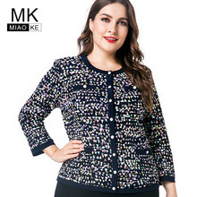 Miaoke Ladies Plus Size Tops Long Sleeve T Shirts Clothing Fashion Women Oversized Vintage Print Graphic Tees Cardigan top