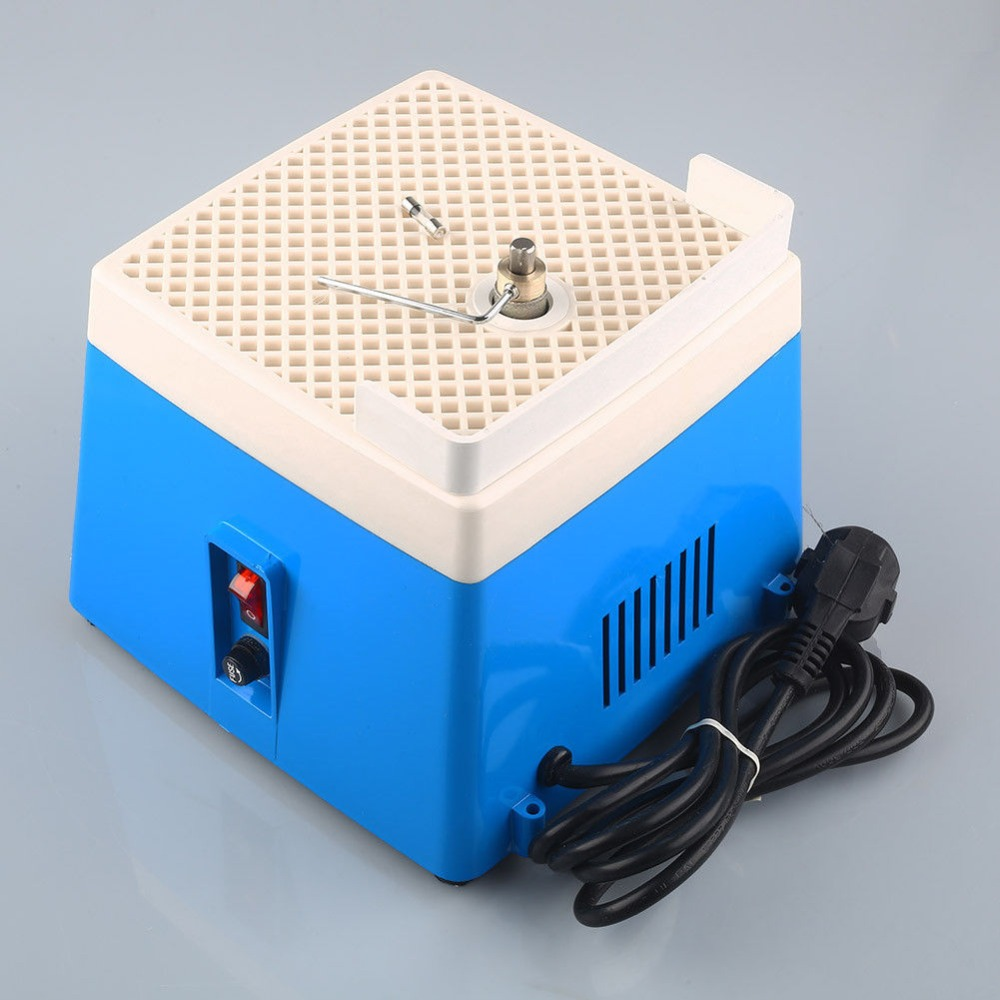 AC 220V 0.1A Portable Mini Automatic Stained Grinder Diamond Glass Art Grinding Tool Home DIY Blue Small Grinding Machine