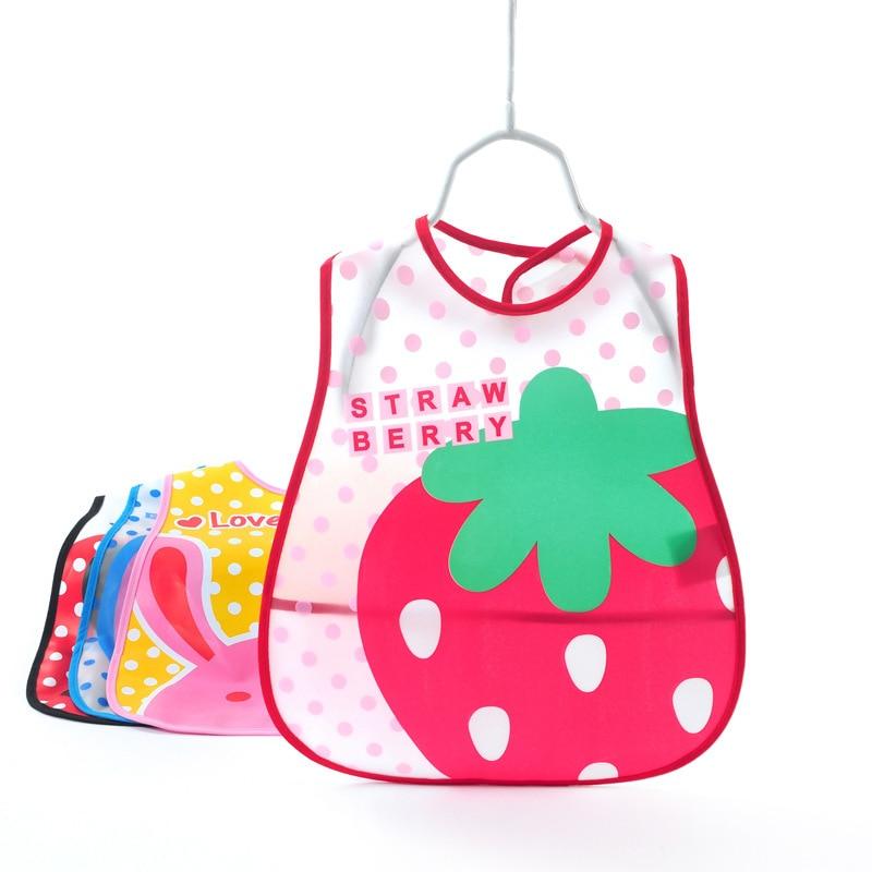 Plastic Baby Bibs Waterproof Newborn Bandana Bibs Burp Cloths for Girls Boys Children Infant Bibs Tableware EVA Baby Feeding