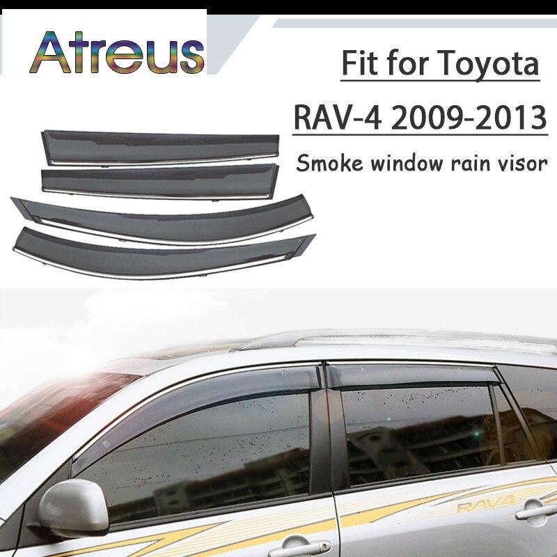 Atrée 1 set ABS Pour 2013 2012 2011 2010 2009 Toyota RAV4 Accessoires De Voiture Évent Déflecteurs Soleil Garde Fumée Fenêtre pare-pluie