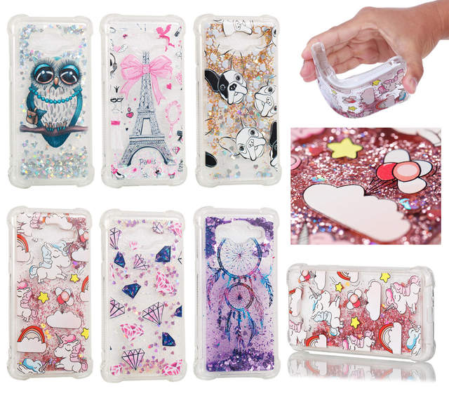 Bling Glitter Dynamic Liquid Quicksand Phone Case For Samsung Galaxy J2  Prime Grand Prime Plus SM-G532F/DS SM-G531F Bumper Cover