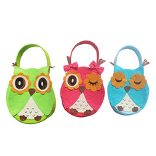 3Pcs/Set Christmas Day Decoration Supplies Cute Owl Family Children Candy Bag Christmas Gift Tree Ornament
