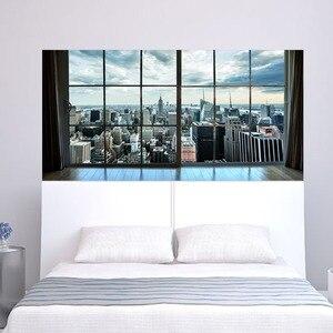 Image 5 - Manhattan New York City Szene Stadt Scape Schlafzimmer TV Wand Wohnzimmer Hintergrund Wand Papier Aufkleber