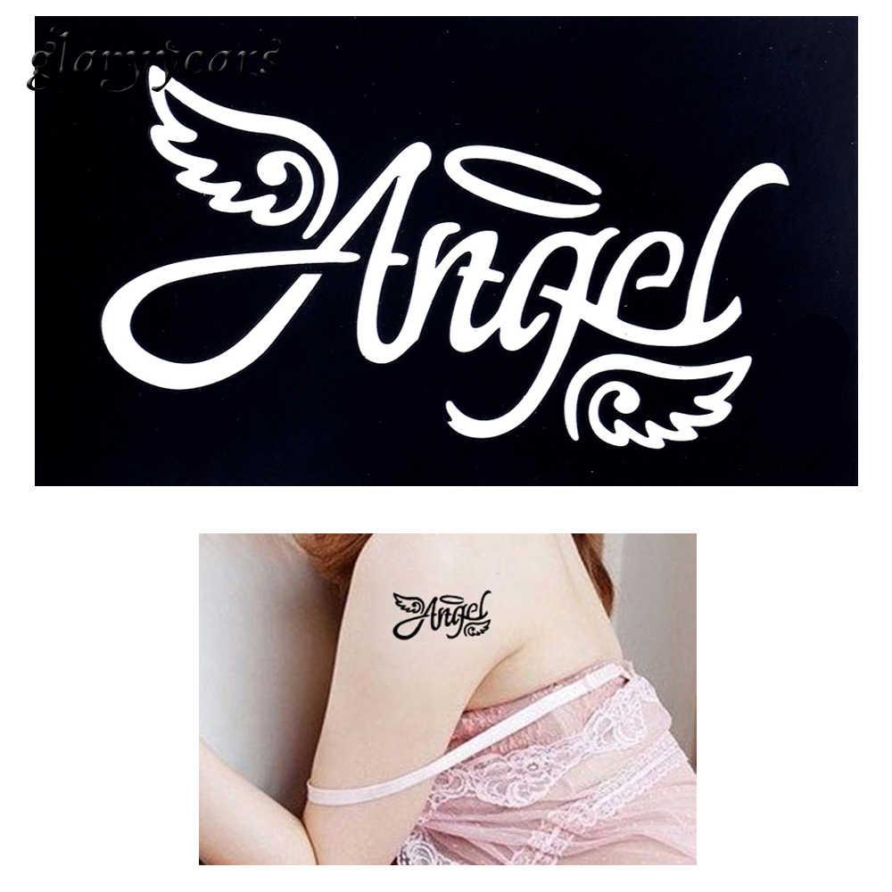 1 قطعة الحناء Tattoo الوشم البخاخة اللوحة قالب الملاك الجناح تصميم الهندي الصغيرة تاتو حنة هيئة الفن Stencil موضة G42