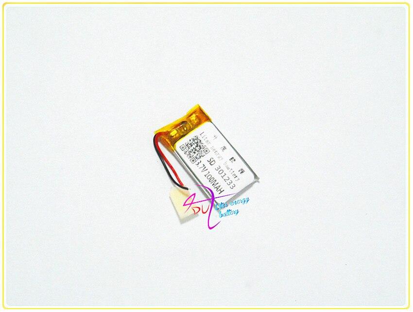 Lithium-polymer Batterie 301233 3,7 V 301235 Mp3 Bluetooth Diy Geschenk Recorder 100 Mah üBerlegene Materialien Stromquelle