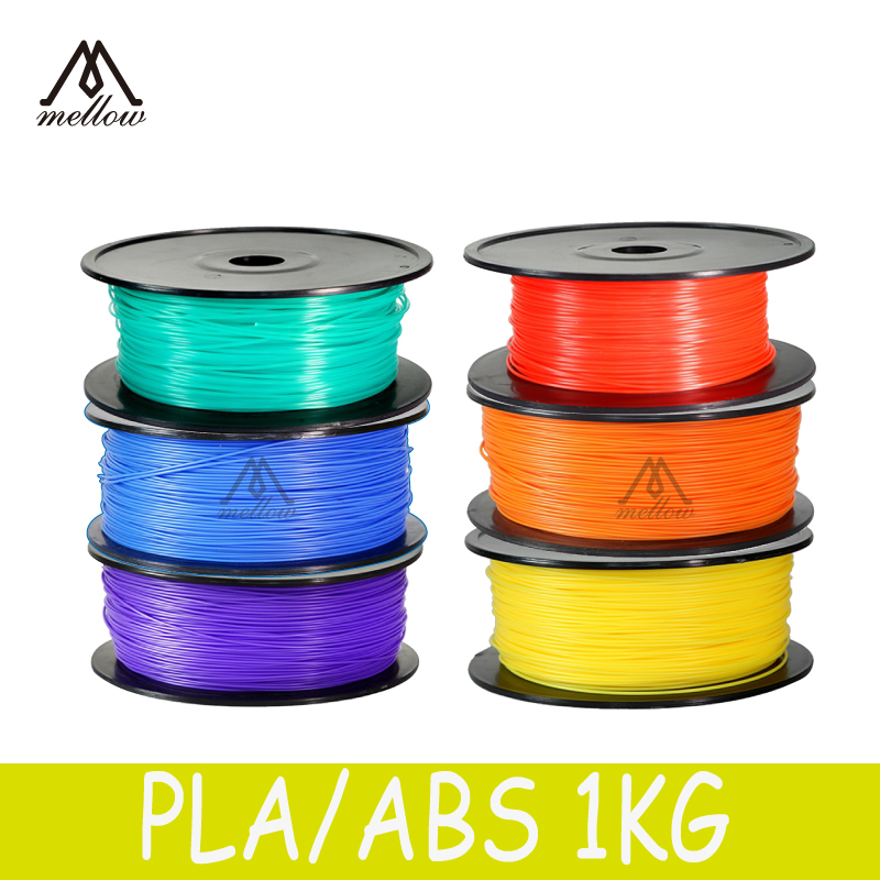 1kg 20 Colours 3D Printer Filaments Rubber Consumables Material,1.75MM ABS/ PLA 3D Pen MakerBot/RepRap/kossel/Createbot abs gold filaments 1 75mm 1kg spool wanhao 3d printer