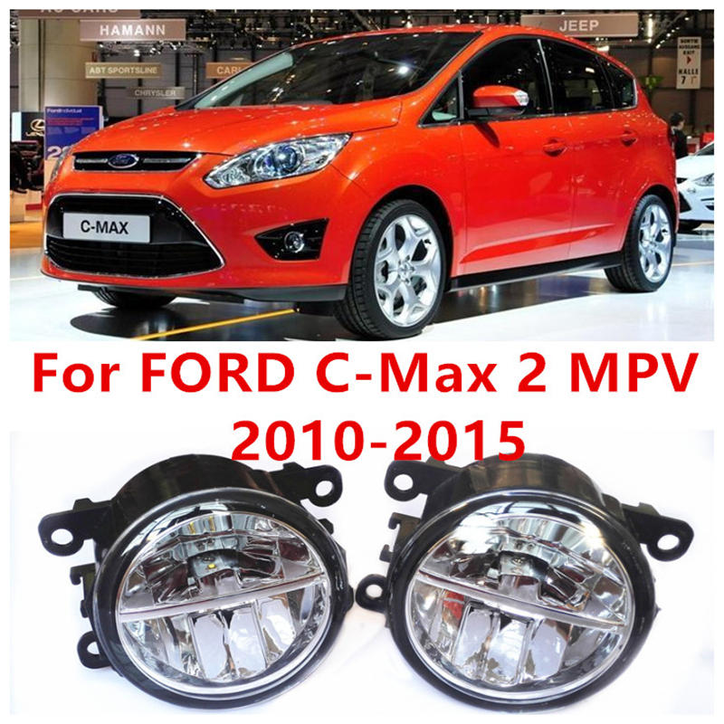 ФОТО For FORD C-Max 2 MPV  2010-2015 Fog Lamps LED Car Styling 10W Yellow White 2016 new lights