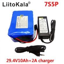HK 7S5P LiitoKala 24 v 10ah batería 15A BMS 250 w 29.4 V 10000 mAh batería para silla de ruedas motor eléctrico de potencia + 2A cargador