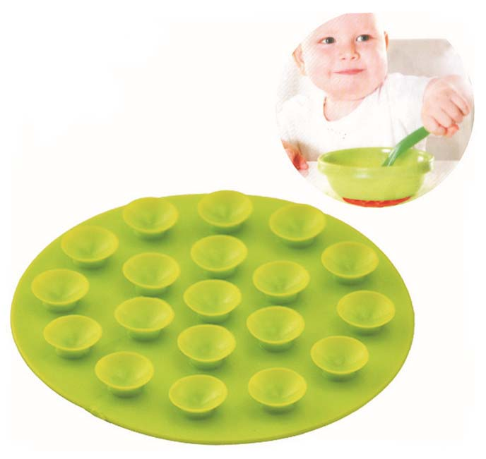 2018 New Anti-slip Baby Suction Cup Mats 19 Holes Two Sidedtableware Sucker Mats Coaster Bowl Dish Bowl Cup Non-slip Pad Coaster