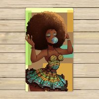 Memory Home Custom African Woman Hand Towel Spa Towel Beach Bath Towels Bathroom Body Shower Towel