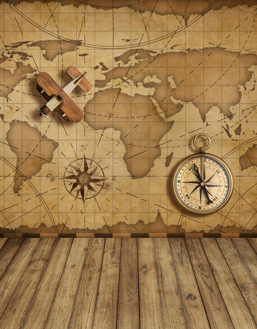 5x7ft vintage old world map nautical navy compass plane wood floor 5x7ft vintage old world map nautical navy compass plane wood floor custom photo backdrops studio backgrounds gumiabroncs Choice Image