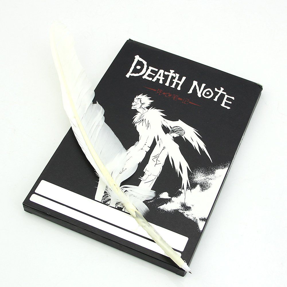 10pack (Lovely Fashion Anime Theme Death Note Cosplay Notebook New School Large Writing Journal 20.5cm*14.5cm anime death note male black short curly cosplay wig show