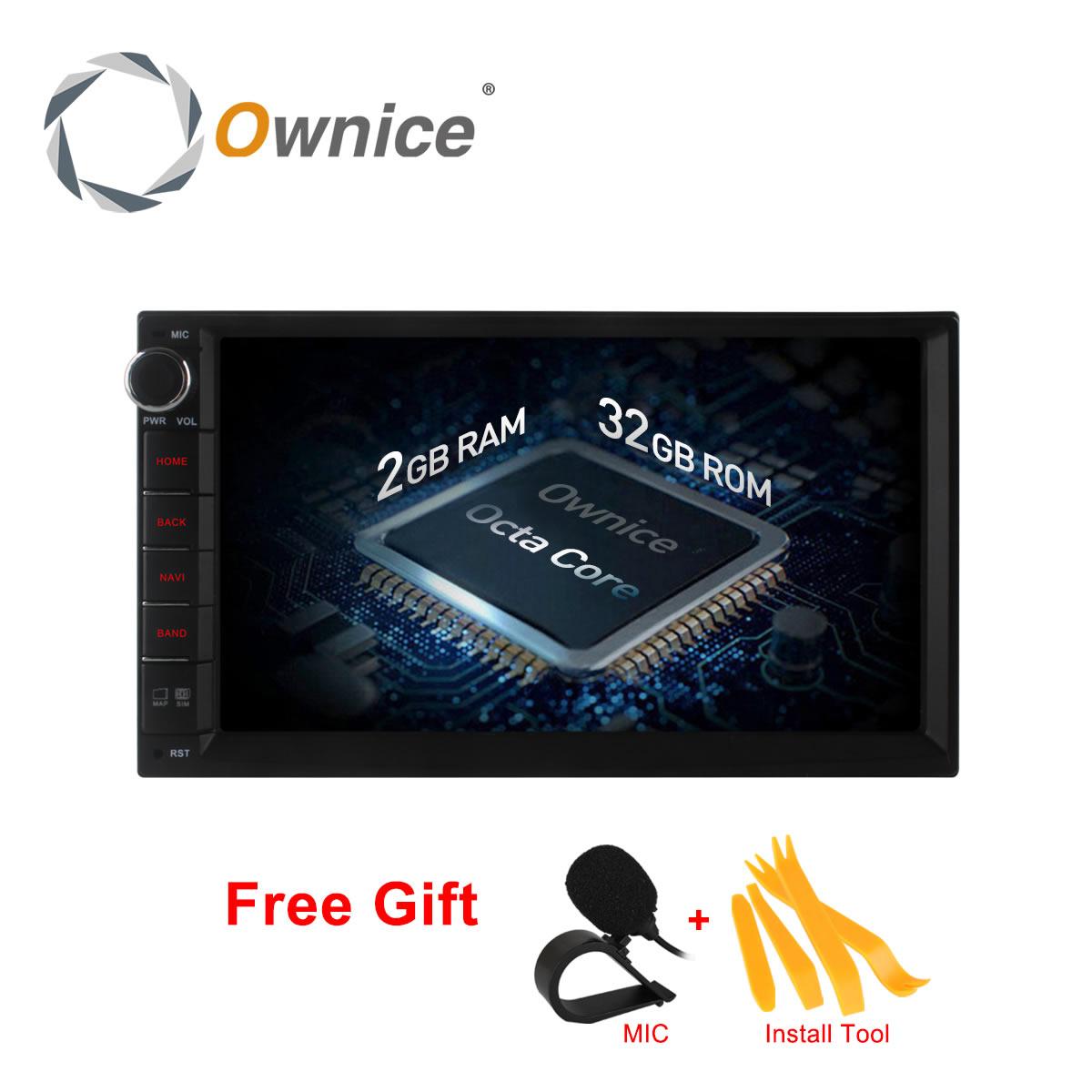 Ownice C500 1024*600 Android 6,0 Octa 8 ядра Радио 2 din универсальный автомобильный Радио gps no dvd поддержка 4 г сети LTE DAB + TPMS