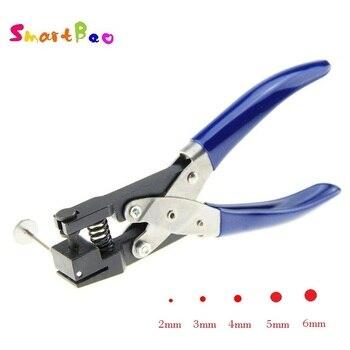 Perfurador do furo de 2/3/4/5/6mm para o cartão do pvc, película protetora, etiqueta, ferramentas manuais de diy duráveis único perfurador redondo do furo à mão