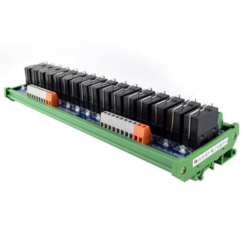Original Omron Relay Module, 16-way 1NO+1NC 24v Electromagnetic Relay 10 pcs car spdt 5 pin 1no 1nc green indicator relay ceramic socket 80a 12v dc