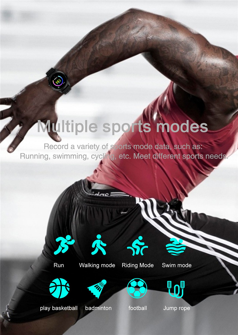 Smart watch fitness waterproof for Android IOS Sport Modes