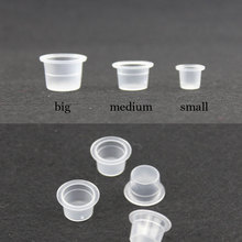 Plastic Tattoo Ink Cup Medium Size Clear Small Classic Tattoo Ink Cups Caps Tatoo Pigment Cup Cap Supply