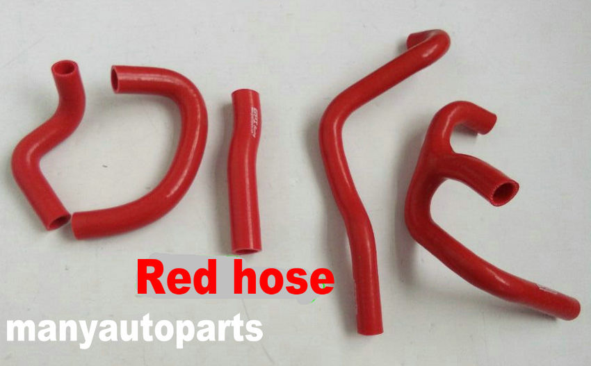 RED Silicone radiator hose 1988-1991 FOR Honda CR250R CR250 Coolant Pipe 89 90