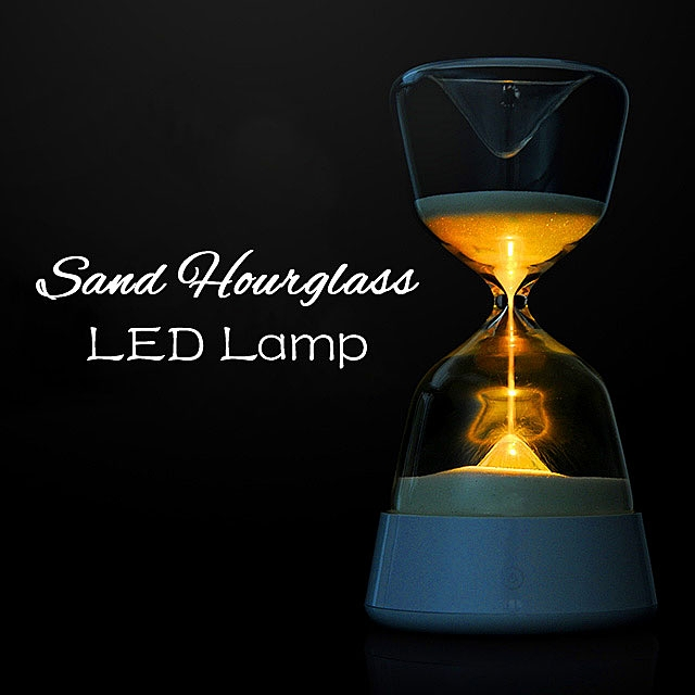 Romantic Colorful Hourglass Timer Night Light Bedside Sleeping Timer Desk Touchable Lamp Color Changed Decoration Sandglass