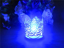 Beautiful Paper Wrap Flameless LED Candle Tea Light\Light candleBags For Christmas Party Wedding Decoration(China)