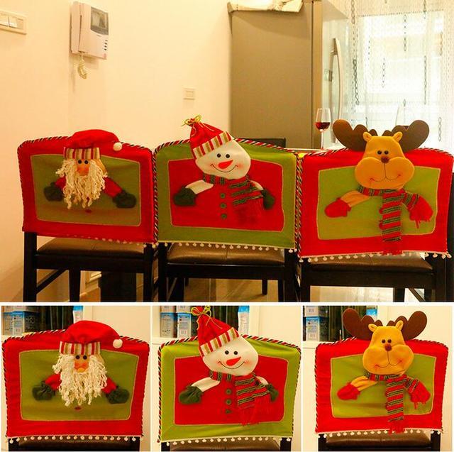 Navidad asiento para silla del comedor Fundas para sillas decoración ...