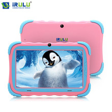Promo offer Original iRULU Y5 7″ Babypad 1024*600 IPS Quad Core Android 7.1 Tablet PC For Baby 1G/16G GMS Silicone Case For Kids Newest