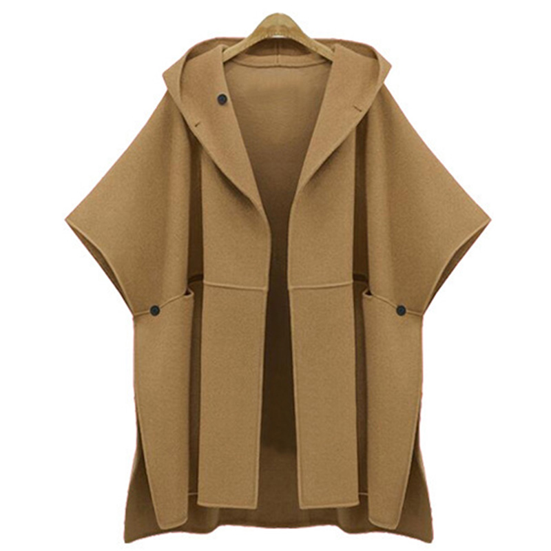 852dd455b9e Detail Feedback Questions about Womens Hooded Cape Coat Poncho Femme Half Batwing  Sleeve Vintage Poncho Coat Cape Outerwear Plus Size Winter Woolen Capes ...