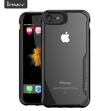 Super Transparent Case For iPhone 7/7 Plus, IPAKY Reinforced Corners Protection Shock Absorption Clear Case For iPhone 7/7 Plus buff ultimate shock absorption glossy screen protector for iphone 5 transparent