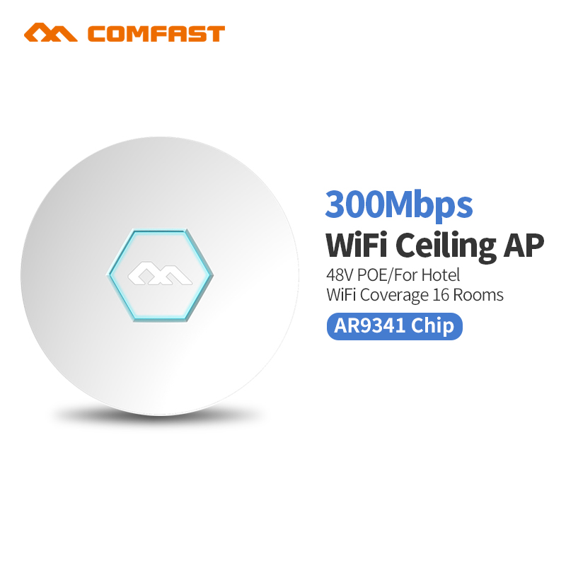 все цены на COMFAST wireless router 300Mbps Ceiling AP openwrt WiFi Access Point AP 2*3 dbi wifi antenna 48v poe Access point indoor wall ap онлайн