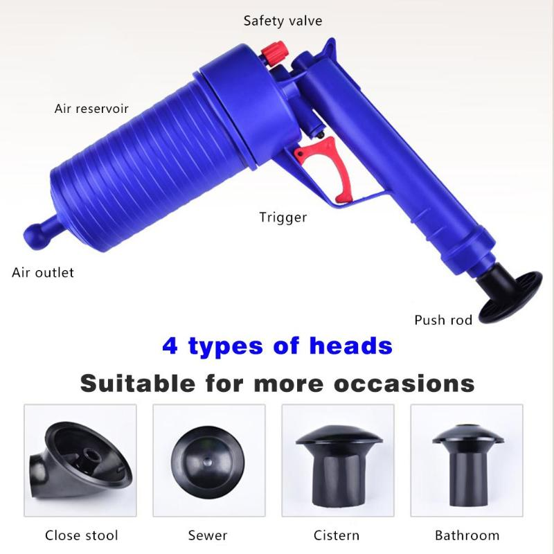 Hot Air Power Drain Blaster Gun With High Pressure And Cleaner Pump For Toilets Showers Bathroom 8