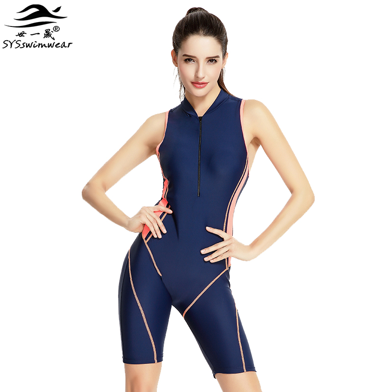 Hot Summer Beach High Quality Sexy Women One Pieces Swimwear Zipper & Wire Free Surfing Swimsuit Lady Snorkeling Bathing Suit