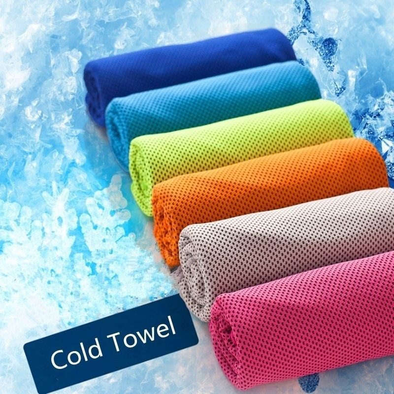 Cooling Sports Towel Ice: Ice Cold Enduring Running Jogging Gym Chilly Pad Instant