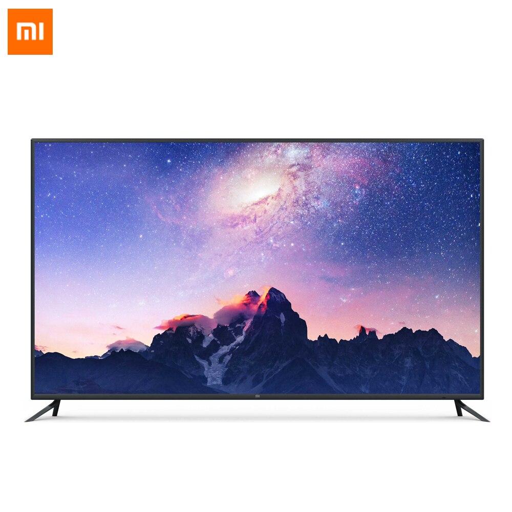 Xiaomi Смарт ТВ 4 75 дюймов Беспроводной ультра тонкий AI разведки голос телевидения Английский Интерфейс 4 К HDR 2 ГБ + 32 ГБ Оперативная память Dolby +