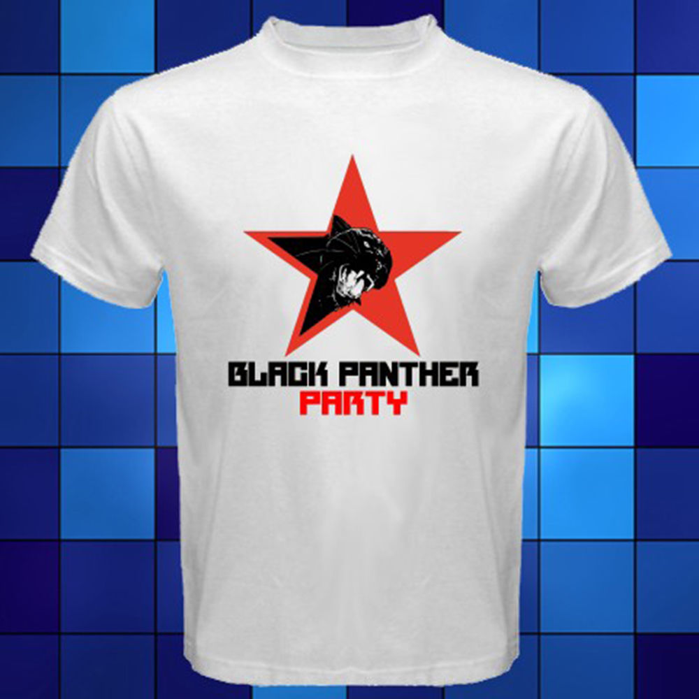 Black Panther Party Logo *<font><b>Malcolm</b></font> <font><b>X</b></font> White <font><b>T</b></font>-<font><b>Shirt</b></font> Size S M L XL 2XL 3XL <font><b>T</b></font> <font><b>Shirt</b></font> Brand 2018 Male Short Sleeve Top Tee image