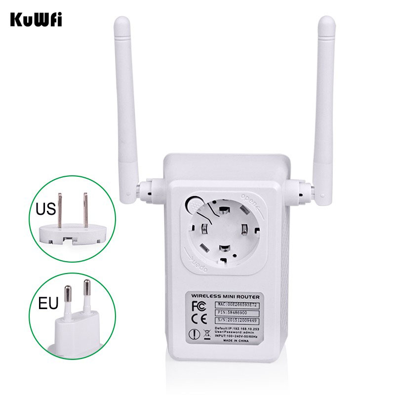 Image 4 - EEE802.11 b/g/n Standard 2.4Ghz 300Mbps Wireless Mini Router AP Repeater for wifi Signal Booster Support WPS 2*3dBi Antenna-in Wireless Routers from Computer & Office