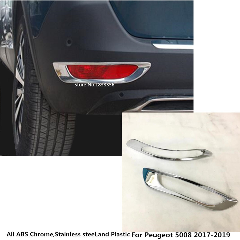 Fit For Peugeot 4008 GT 2017 2018 ABS Chrome Rear Tail Fog Light Lamp Cover Trim