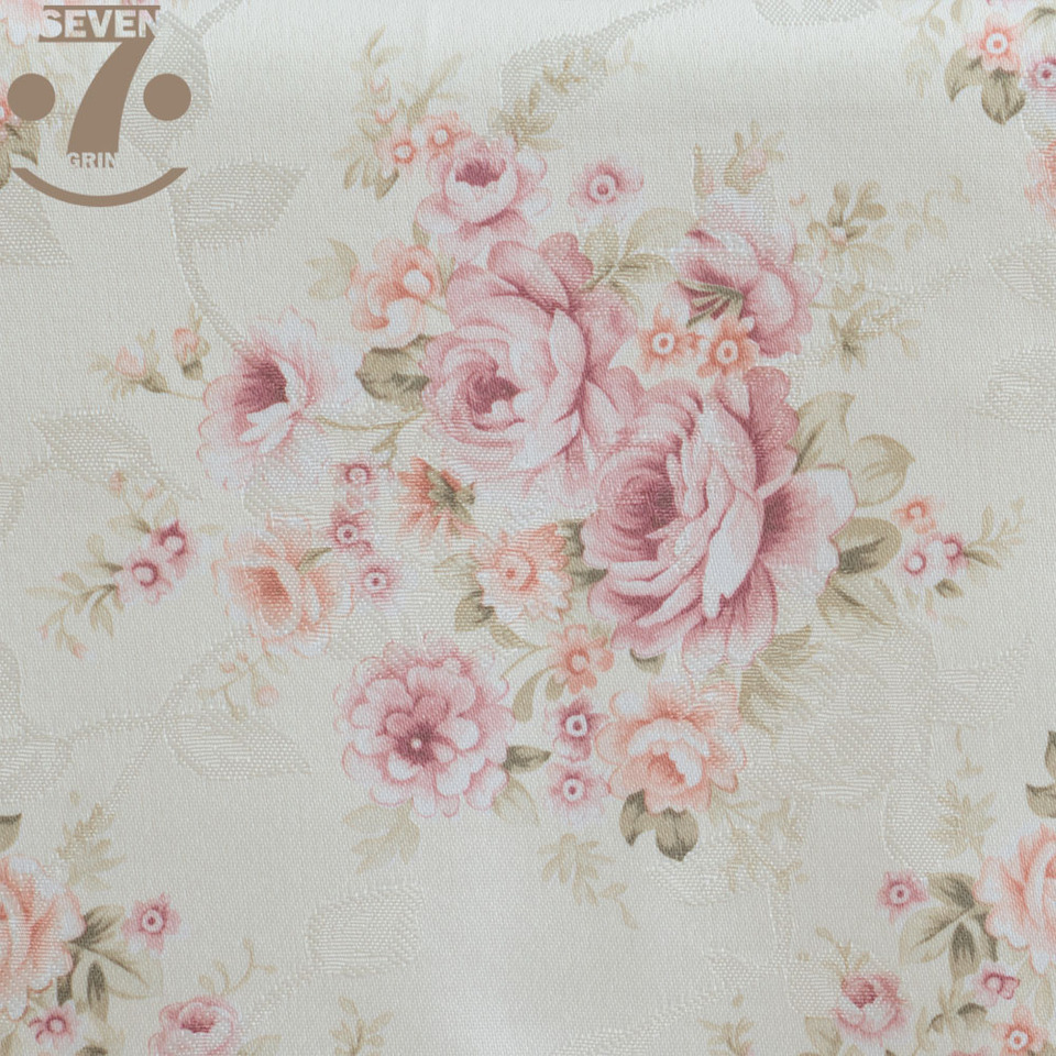 Wedding Banquet Soft Pink Floral Jacquard Cloth Elegant