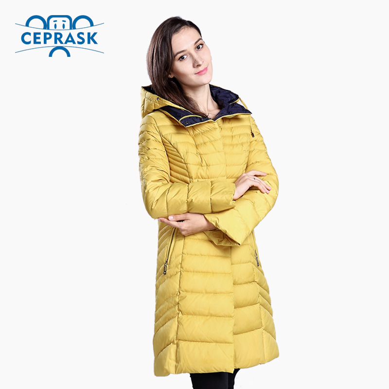 CEPRASK 2016 New Winter Jacket Women Plus Size Long Women's Winter Coat with Rabbit Fur High Quality Warm Down Jacket Parka 2017 winter new clothes to overcome the coat of women in the long reed rabbit hair fur fur coat fox raccoon fur collar