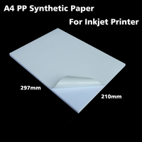 30sheets White A4 PP Synthetic Paper Adhesive Sticker Paper Printing Paper Matt Sheet For Inkjet Printer
