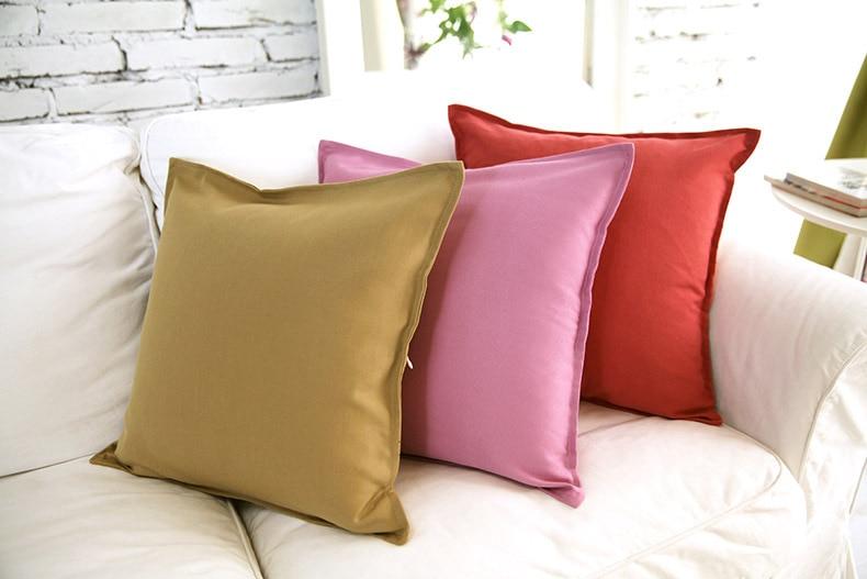 Nieuwe effen kleur eenvoudige stijl bed kussen kussenovertrekken