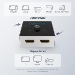 Image 4 - HDMI переключатель Vention, двунаправленный, 2,0 дюйма, 1x2/2x1, для ТВ приставки PS4 Pro/4/3