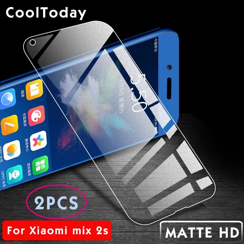2Pcs/lot Protective Film For Xiaomi Mi Mix 2 S Matte Tempered Glass For Xiaomi Mix 2 S Screen Protector For Xiaomi Mix2 IIRROONN