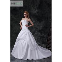 2013 New Princess A Line Wedding Dress Wedding Gowns Bride Dresses Taffeta One Shoulder Sweetheart Court