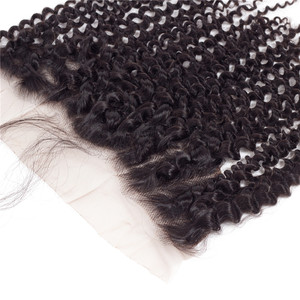 """Image 4 - Bling Hair 100% Remy Brazilian Kinky Curly Human Hair Lace Frontal Closure 13*4 With Baby Hair Nature Color 8"""" 22"""" Free Shipping"""
