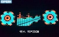 car styling neon light car LED music Rhythm sticker for Hyundai elantra ix35 solaris accent i30 ix25 tucson accessories 90*25cm