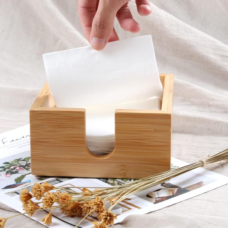 Бамбуковые квадратные коробки для хранения на кухне, Тип сиденья для ресторана, бумажные салфетки, носовые платки Коробки для салфеток      АлиЭкспресс