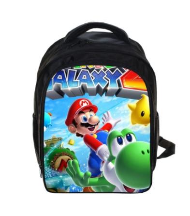 Купить с кэшбэком 13 Inch Cartoon Mario Bros Boom Kids Backpack Kindergarten School Bag Children Printing Backpack Girls Boys Mochila