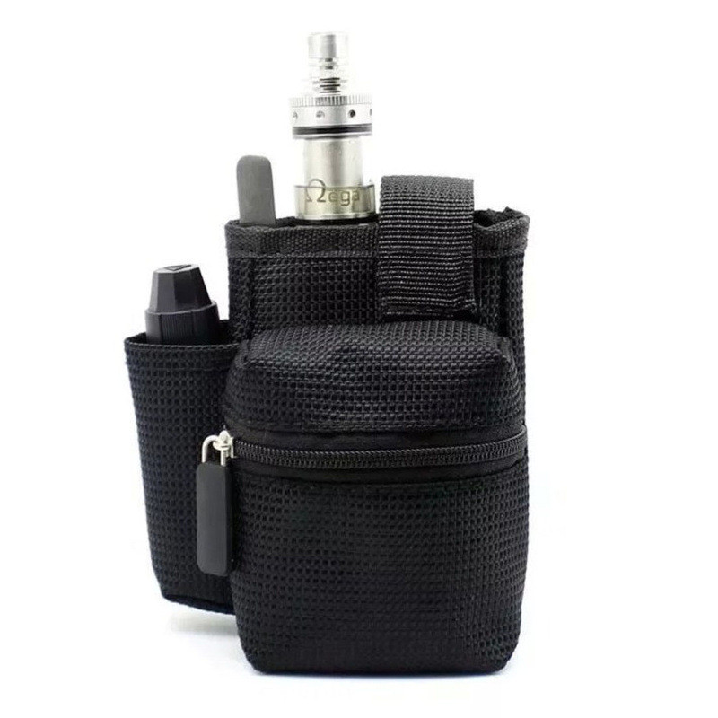Electronic Cigarette Vape E cig Portable Carry Bag Vapor Pocket Vaping Tool kit Case Double Deck for Kit RDTA Atomizer