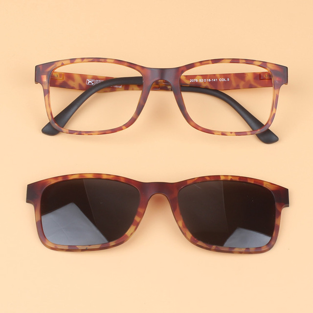 f13041cc84d Magnet Set Mirror Polarized Sunglasses Clip Ultem Tungsten Plastic steel  Myopia Glasses Frame can Fill Optical