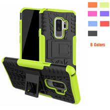 купить Heavy Duty Armor Hard Case Cover for Samsung Galaxy S9 Plus SM-G9650 S9+ Anti-knock Protective Case for Samsung Galaxy S9 G9600 по цене 185.45 рублей